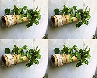 COIR GARDEN Bamboo Hanging Planter, length 40cm - 55cm . Diameter is 8cm - 12cm, 4 Pieces