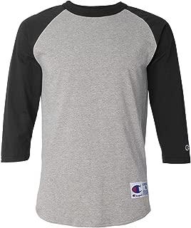 Men's Contrast Raglan Sleeve Baseball T-Shirt
