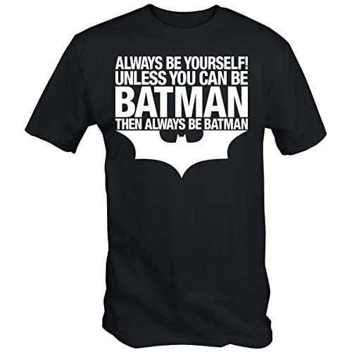 6TN Mens Always Be Batman T Shirt Black