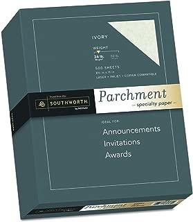 Southworth Fine Parchment Paper, 24 lb , Ivory, 500 sheets (984C)