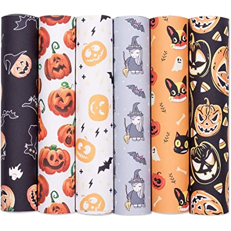 Thanksgiving Halloween Mouse Pumpkin Fall Vinyl Leather Sheet For Bows Earrings Applique
