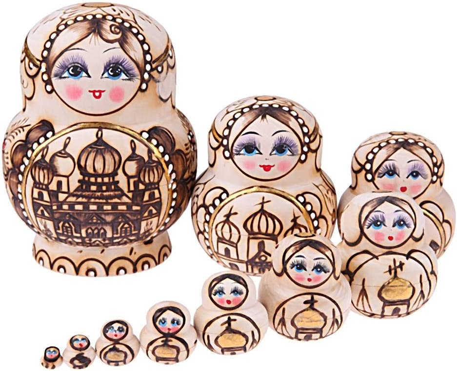 ROEWP Russian Nesting Dolls Today's only 1 Matr Set New products world's highest quality popular