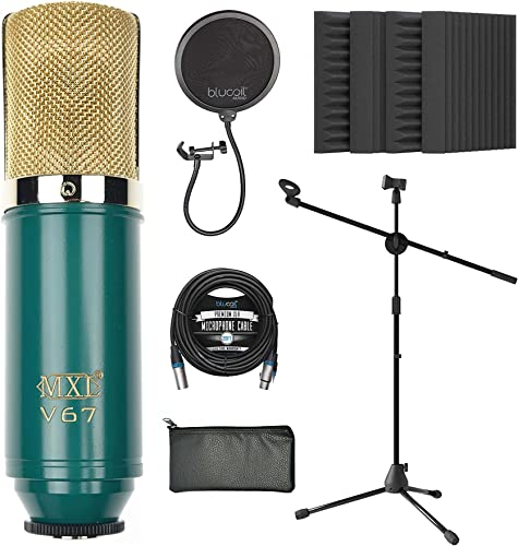 new arrival MXL V67G Large Capsule Condenser Microphone lowest for Vocals and Acoustic Guitars Bundle with Blucoil 20-FT Balanced XLR Cable, Pop Filter, Adjustable Microphone Tripod discount Stand, and 4X 12 Acoustic Wedges outlet online sale