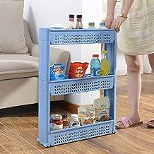 Bathroom Shelves Thin Trolley Space Saver Storage Organizer Shelf Storage Kitchen Storage Toilet Shelf Bathroom Storage Sh...