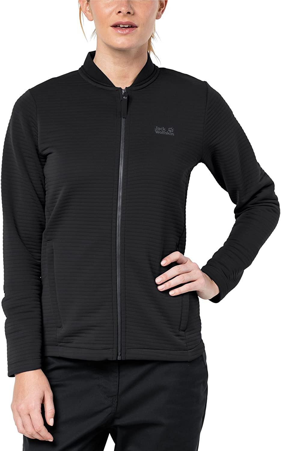 (Black, 20  Bust 44  (110114cm))  Jack Wolfskin Womens Ladies Modesto Breathable Fast Dry Fleece Jacket