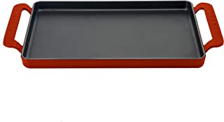 Chasseur PUC335208 - Plancha rectangular, hierro fundido, rojo rubí, 42 x 24 cm