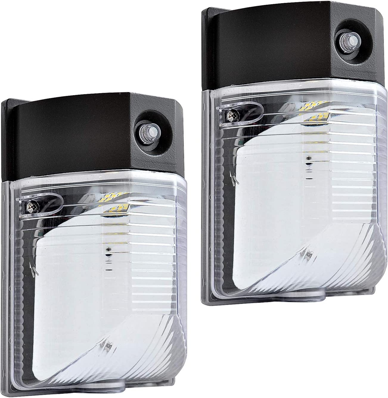 OSTWIN LED [宅送] Wall Pack Outdoor Light with メーカー公式ショップ 100 Photocell 18W 2256Lm