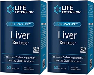 Life Extension FLORASSIST Liver Restore 60 Capsules Bundle of Two Boxes