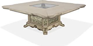 Platine de Royale Champagne 9 Piece Square 84 inch Wood Dining Table Set by Michael Amini