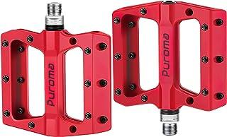 Puroma Mountain Bike Pedal Nylon Fiber Non-Slip 9/16 Inch...