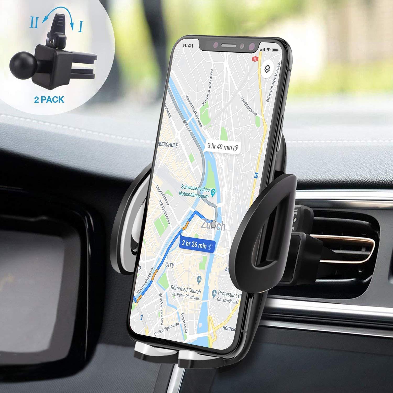 Soporte para teléfono móvil para coche con una pinza adicional para la ventilación de Izuku Soporte