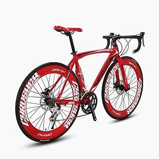 Cyrusher XC700 Road Bicycle Shinano 2400 Aluminium Frame 54/56cm 700C 70MM Mens Road Bike 16 Speeds Mechanical Disc Brakes