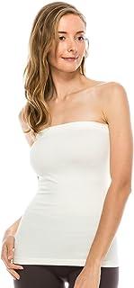 Kurve Women's Seamless Stretch Long Bandeau Tube Top (XS/S, M/L, L/XL, XL/XXL) -Made in USA-
