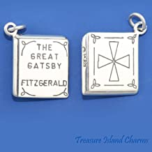 THE GREAT GATSBY F. SCOTT FITZGERALD BOOK NOVEL .925 Solid Sterling Silver Charm Jewelry Making Supply Pendant Bracelet DIY Crafting by Wholesale Charms