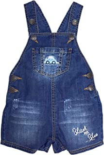 Kidscool Space Baby Easy Diaper Changing Car Embroidered Fashion Jeans Shortalls