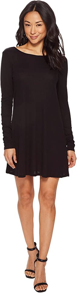 American Rose Avery Long Sleeve Dress with Lace-Up Back