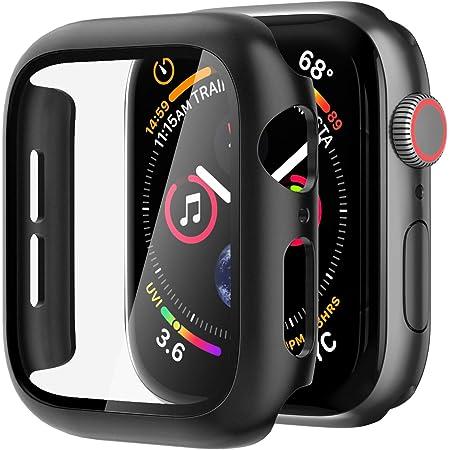 NIMASO ケース Apple Watch Series 6 / SE/Series 5 / Series 4 対応 44mm PC素材 強化ガラス 保護カバー アップルウォッチケース