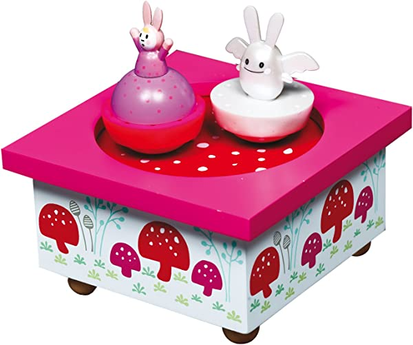 Trousselier Angel Bunny Musical Wooden Box Pink