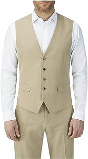 Skopes Mens Linen Blend Waistcoat in Stone (Morant)