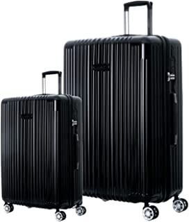 Hardshell Luggage Sets with Spinner Wheels Checked Carry On Luggage [ Black ] 29 Inch 22 Inch 2 Piece Set German Design TSA Lock ABS+PC