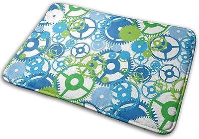 Gear Door Mat Rug Indoor/Front Door/Shower Bathroom Doormat, Non-Slip Doormats, 23.6 X 15.8 Inch