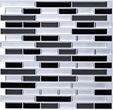 STICKGOO Panel de azulejos antisalpicaduras y antimoho de gama alta, lámina autoadhesiva de azulejos para cocina y baño, s...