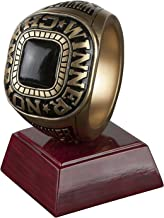 Championship Winner Ring Trophy - FFL Winner Ring Award - 4.5 Inch Tall - Engraved Plate on Request - Decade Awards