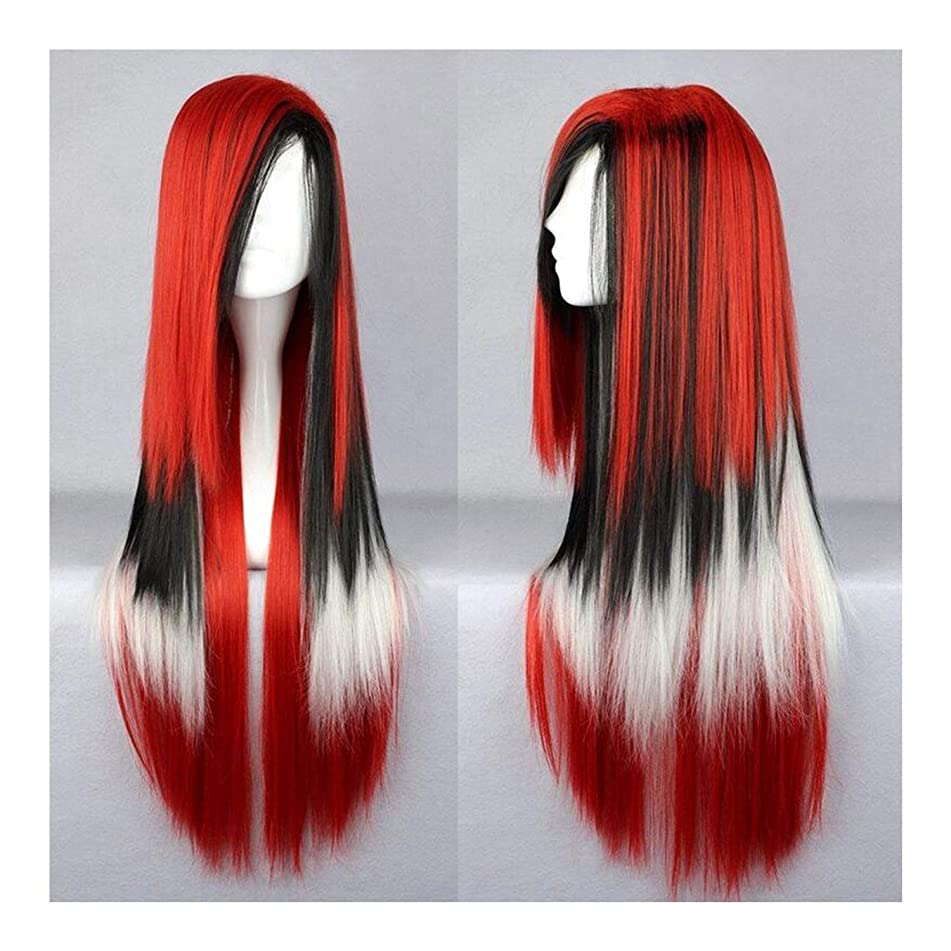 70cm Long Women Hair Ombre Color Fiber Wigs Pink Blue Synthetic Hair,#35,28inches