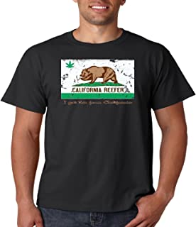 Weed Smoking T Shirt California Reefer I Got This from CA Mens Tee S-5XL