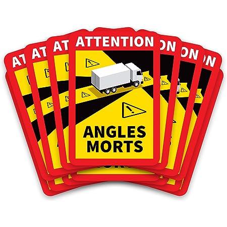 Kit de 15 Stickers Angles Morts Officiels pour Poids Lourd Adhésif Camion Autocollant