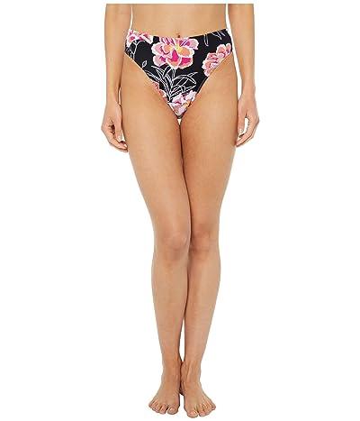 Roxy Print Beach Classics High-Leg High-Waist Swim Bottoms (Anthracite Zilla) Women