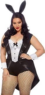 Women's Plus Size 3 Pc Tuxedo Bunny Costume