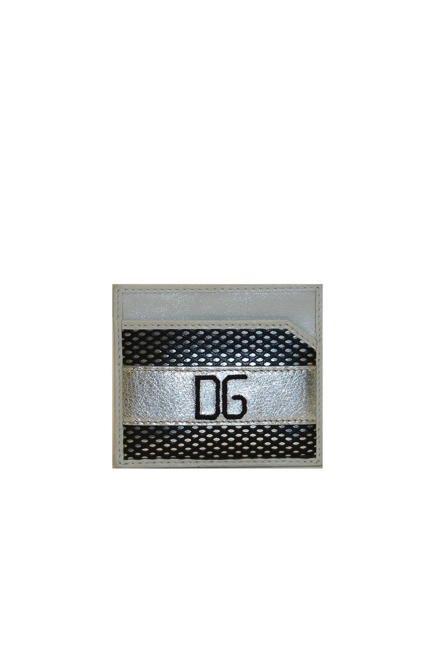 甘美な大学生遡るDolce & Gabbana (ドルチェ&ガッバーナ) ブラックandホワイトクレジットカードホルダーbp0450?(クリアランス)
