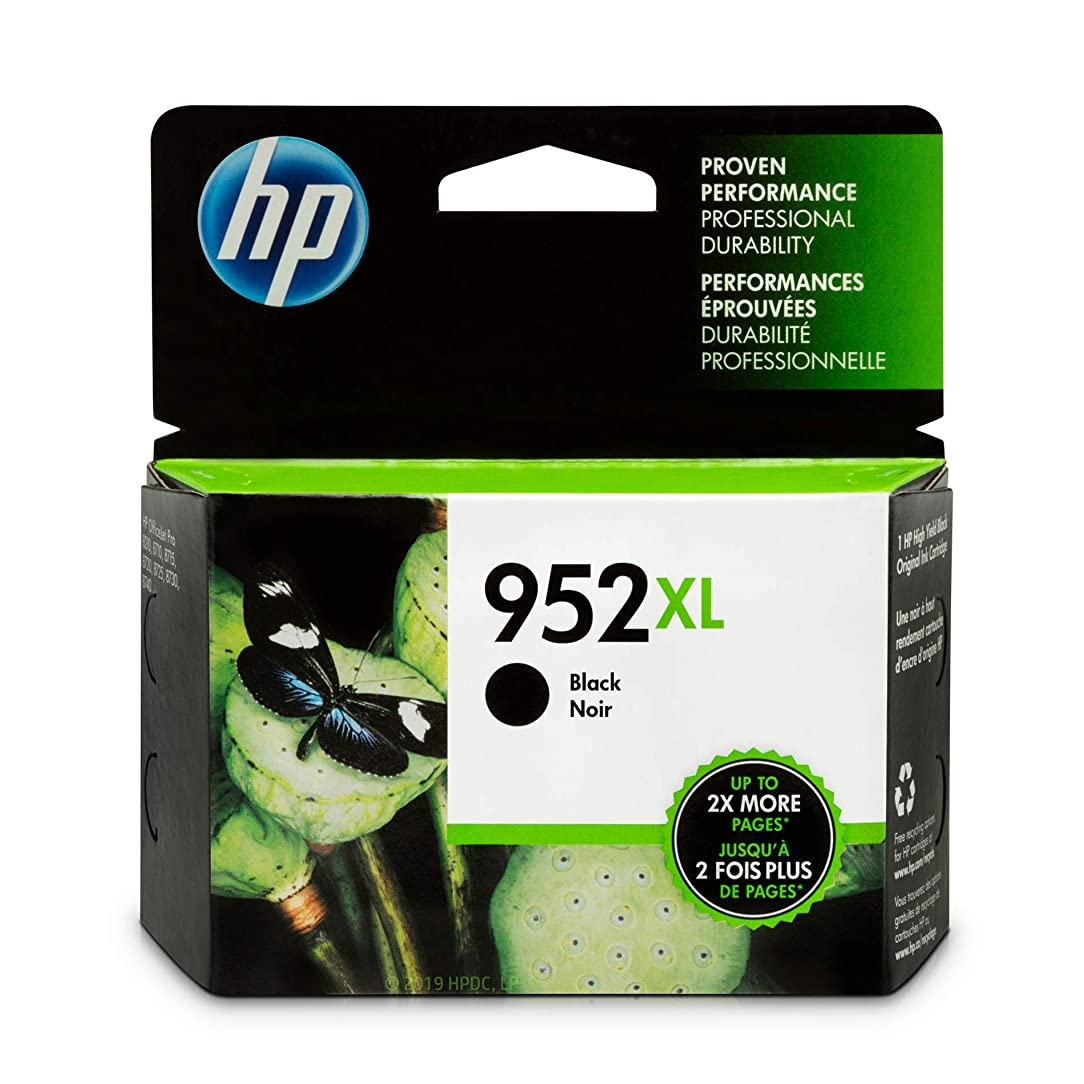 HP 952XL Black Ink Cartridge (F6U19AN) qne72110497