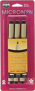 Pigma Micron PN Pens .45mm 3/pkg-Black