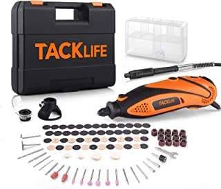TACKLIFE Rotary Tool Kit with MultiPro Keyless Chuck and Flex Shaft, Versatile Accessories and 4...