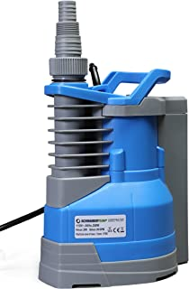 Submersible Clean Water Sump Pump 1/3hp with built in automatic ON/OFF (with adjustable start heights) 1560GPH, 20`Head, Thermal Protector, Copper Winding - Schraiberpump