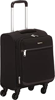 AmazonBasics Softside Carry-On Spinner Luggage Suitcase - 18 Inch, Black