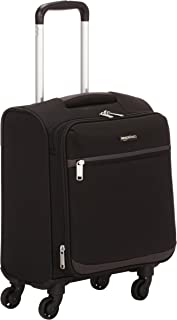 Maleta blanda con ruedas giratorias, 47 cm, para equipaje de mano, Negro
