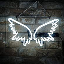 Neon Signs Sign Lights Light Wing Shap for Bed Room Bar Beer Home Bar Pub Club Restaurant Game Rooms Shop Real Glass Pure Hand Curved 14x8 Inches