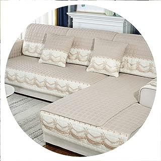 Four Seasons Sofa Cushion, Universal Non Slip Sofa Cover Cushion, European Full Cover Autumn and Winter,Q,90x70cm