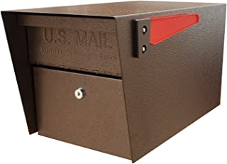 Mail Boss 7508 Mail Manager Curbside Locking Security Mailbox, Bronze