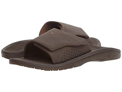 OluKai Nalu Slide (Dark Java/Dark Java) Men