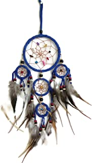 Moose546 Navy Blue Dream Catchers Hanging Ornaments with Feathers and Beads 4.5