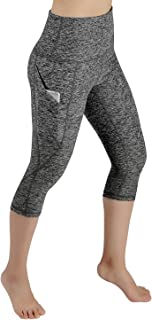 ODODOS High Waist Out Pocket Yoga Pants Tummy Control Workout Running 4 Way Stretch Yoga Pants