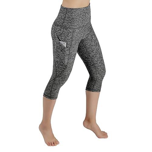 9b8b68808b6 ODODOS High Waist Out Pocket Yoga Pants Tummy Control Workout Running 4 Way  Stretch Yoga Leggings
