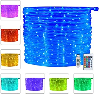 Ollny 100 LED Rope Lights 33ft 16 Colors Changing Indoor Lights USB Powered Multi Color..