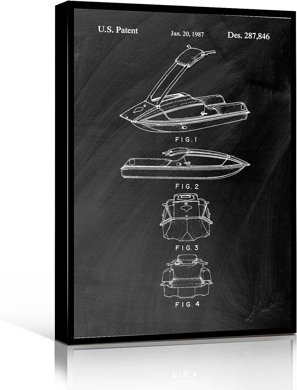 ART WALL DECOR Jet Ski Art Blueprint House Poster Sale Special Price Max 76% OFF Print