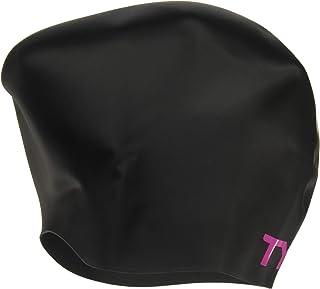 TYR Pink Long Hair Wrinkle-Free Silicone Swim Cap