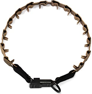 Herm Sprenger Curogan Neck Tech Prong Dog Training Collar with Quick Release Buckle Matte Pet Pinch Collar No-Pull Collar ...